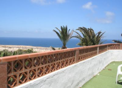 Terrasse Ferienhaus in La Pared