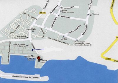 Lage des privaten Appartements in Puerto de Mogan