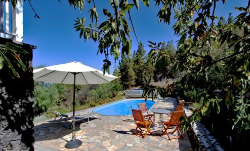 Exklusives Poolhaus in Tijarafe - Pool mit Terrasse