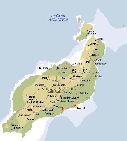 Landkarte Lanzarote Inselkarte Lanzarote