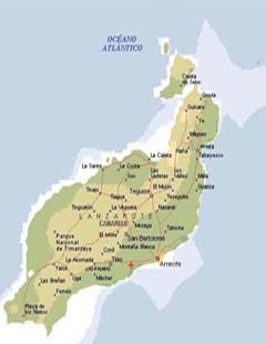Landkarte Lanzarote Insel Lanzarote